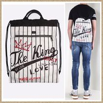 SALE【Dolce & Gabbana】The King of Loveプリント バックパック