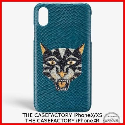 THE CASE FACTORY スマホケース・テックアクセサリー 関税送料込☆THE CASEFACTORY☆IPHONE X/XS/XR SWAROVSKI TIGER
