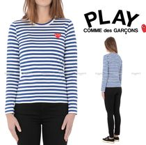 COMME des GARCONS PLAY*ladies' ハート ボーダーロングTシャツ