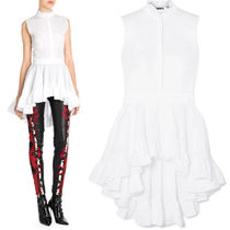19SS AM498 RUFFLED BLOUSE WITH FROCK DETAIL