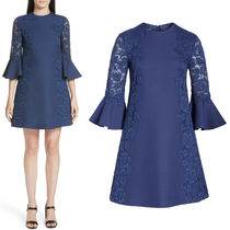 19SS V1436 CREPE COUTURE & HEAVY LACE DRESS