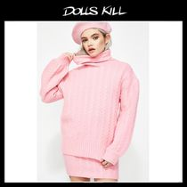 関税/送料込*DOLLS KILL*BUBBLEGUM POP CABLE KNIT SWEATER