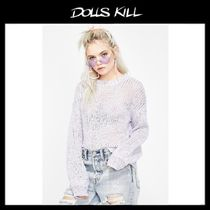 関税/送料込*DOLLS KILL*BOLD TYPE KNIT SWEATER
