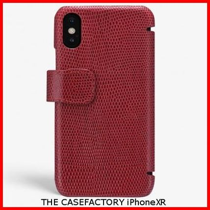 THE CASE FACTORY スマホケース・テックアクセサリー 関税送料込☆THE CASEFACTORY☆IPHONE XR CARD CASE LIZARD