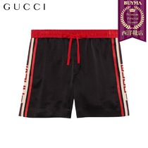 【正規品保証】GUCCI★19春夏★ACETATE SHORTS W/ GUCCI STRIPE