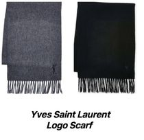 ☆SALE☆Yves Saint Laurent Embroidered Logo Scarf マフラー