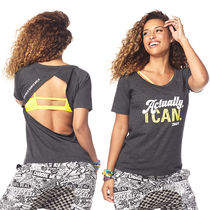 1月新作【送料無料】Zumba Fierce Female Open Back Top Tシャツ