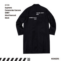Supreme Comme des Garcons SHIRT Wool Overcoat Black