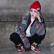 BLACKBLOND(ブラックブロンド) ジャケット ☆BLACKBLOND☆ BD Brutal Graffiti Denim Jacket (Dark Gray)