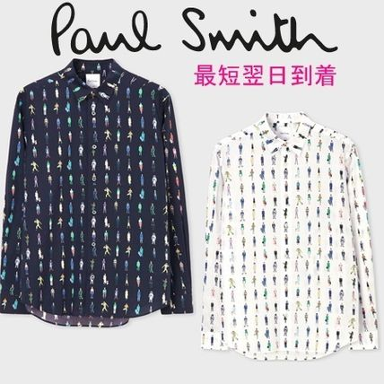 d2a767a89ff3 Paul Smith シャツ すぐ届く◇PaulSmith◇Paul's Peopleプリントシャツ*国内発送 ...