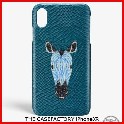 THE CASE FACTORY スマホケース・テックアクセサリー 関税送料込☆THE CASEFACTORY☆IPHONE XR SWAROVSKI GIRAFFE