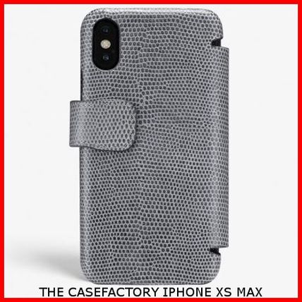 THE CASE FACTORY スマホケース・テックアクセサリー 関送込☆THE CASEFACTORY☆IPHONE XS MAX CARD CASE LIZARD