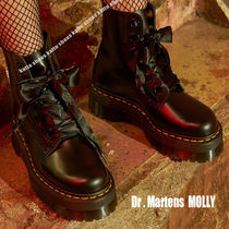 Dr Martens★MOLLY BUTTERO★厚底ブーツ★サテン リボン