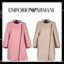 SALE【Emporio Armani】asymetry-zip wool coat