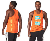 イントラメンズ!Zumba Dance Bold Men's Instructor Tank-Cherry