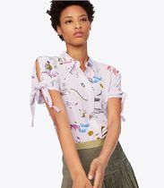 Tory Burch EMBROIDERED-SLEEVE SHIRT
