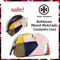 セール新作 Tory Burch Robinson Mixed Materials Cosmetic Case
