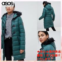 ASOS★Brave Soul Wizard Long Padded Coat with Faux Fur Hood