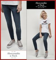 Abercrombie & Fitch ダークウォッシュ ハイライズジーンズ