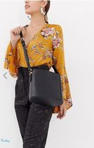 ★ASOS★Accessorize drawstring crossbody bucket bag in black