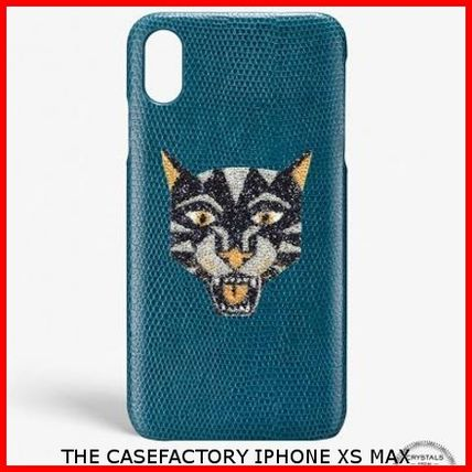 THE CASE FACTORY スマホケース・テックアクセサリー 関送込☆THE CASEFACTORY☆IPHONE XS MAX SWAROVSKI TIGER