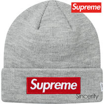 SUPREME NEW ERA BOX LOGO BEANIE / HEATHER GREY / FREE