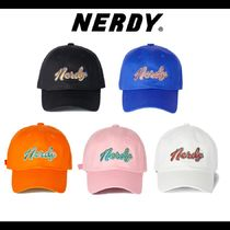 NERDY★Washed Multi Color Embroidery Ball キャップ 全5色