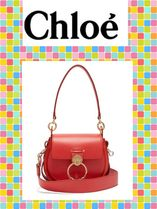 Chloe(クロエ)Tess small leather and suede cross-body bag
