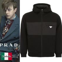 PRADA technical cotton fleece jacket