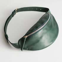 """""""& Other Stories"""" Leather Beltbag Green"""