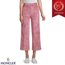 ◆Moncler モンクレール ワイドレッグ キュロット パンツ Pink
