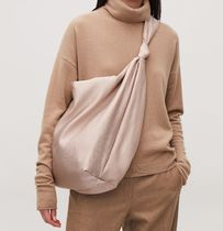 """COS"" LARGE PLISSE SHOULDER BAG LIGHT TAN"
