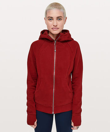 Scuba Hoodie Light Cotton Fleece*定番人気*Dark Sport Red