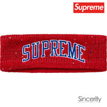 SUPREME NEW ERA SEQUIN ARC LOGO HEADBAND / RED / FREE