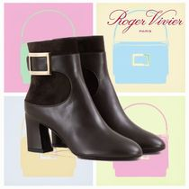 SALE!!【18AW】ROGER VIVIER★Chunky Trumpet Metal Buckle Boot