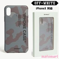 完売必須!【Off-White】Camouflage quote iPhoneX スマホケース