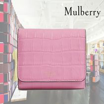 【19SS】★Mulberry★Continental croc-embossed wallet