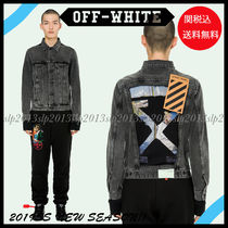 19New■Off-White■今期大人気☆BLACK DENIM JACKET☆関税込