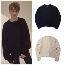 Ordinary Peopleのcolor-texure mixed sweater 全2色