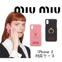 MiuMiu ★ iPhone Xケース ★ COVER PER SMARTPHONE MADRAS LOVE