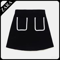 ★ZARA★ザラ  SKIRT WITH CONTRASTING PIPING