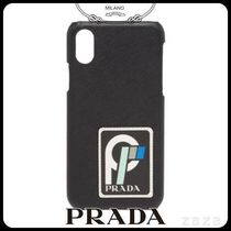 PRADAプラダ 2ZH058 SAFFIANO LEATHER COVER FOR IPHONE X