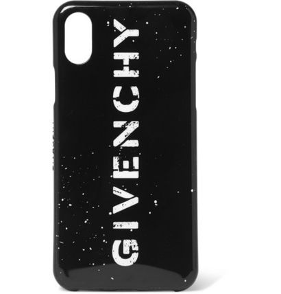 GIVENCHY スマホケース・テックアクセサリー GIVENCHY☆ロゴプリントRubber IPhone X Case/ブラック