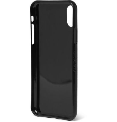 GIVENCHY スマホケース・テックアクセサリー GIVENCHY☆ロゴプリントRubber IPhone X Case/ブラック(3)