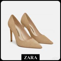 ★ZARA★ザラ  LEATHER HIGH-HEEL COURT SHOES