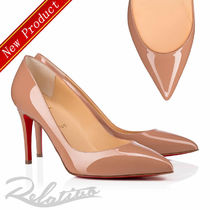 ★19SS★【Louboutin】Pigalle 85㎜ パテント パンプス/Nude