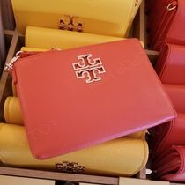 2019SS♪ Tory Burch ★ BRITTEN LARGE ZIP POUCH