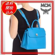 MCM(エム シー エム) マザーズバッグ 関税.送料込 MCM Leather Backpack  リュク