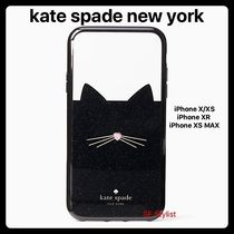Kate spade★グリッターキャット★ねこiPhone X/XS, XR,  XS MAX
