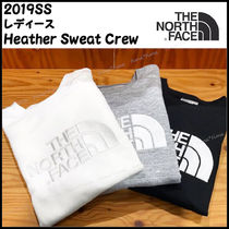 【The North Face】Heather Sweat Crew レディース BIGロゴ★